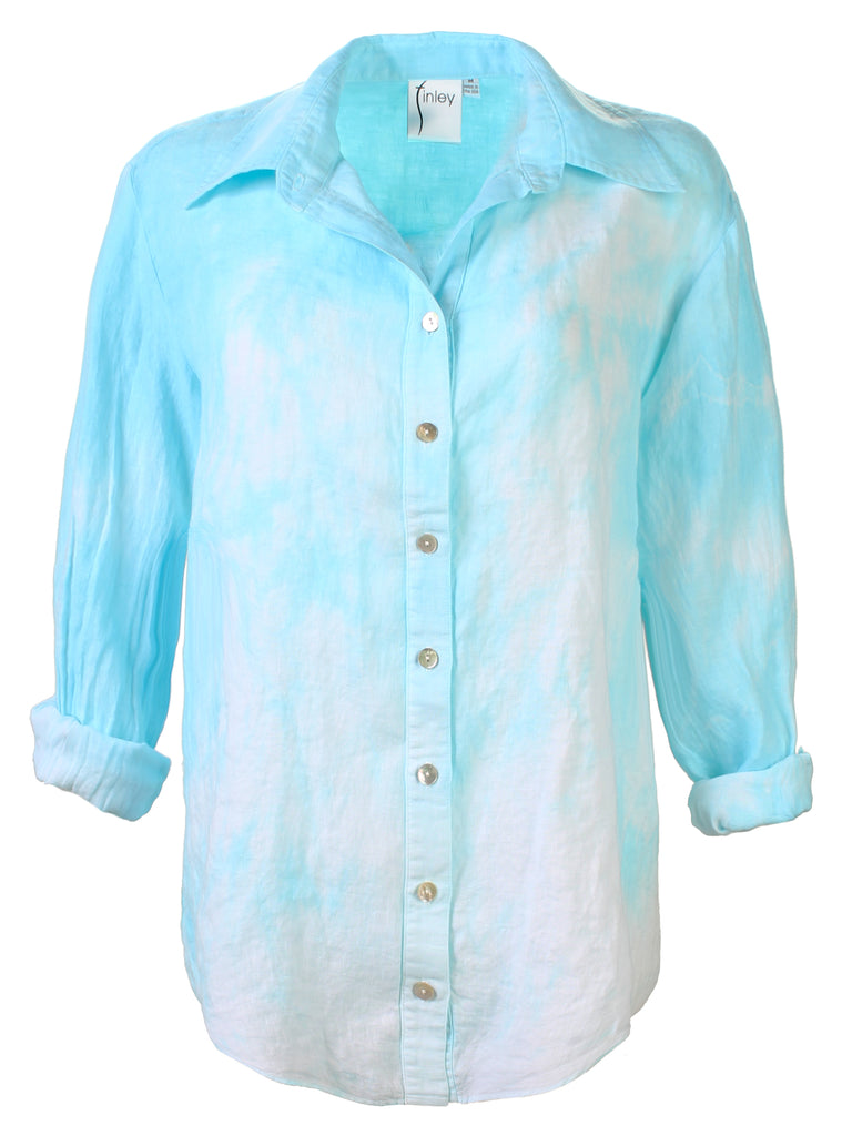 HAND DYED Washed Linen Monica Shirt