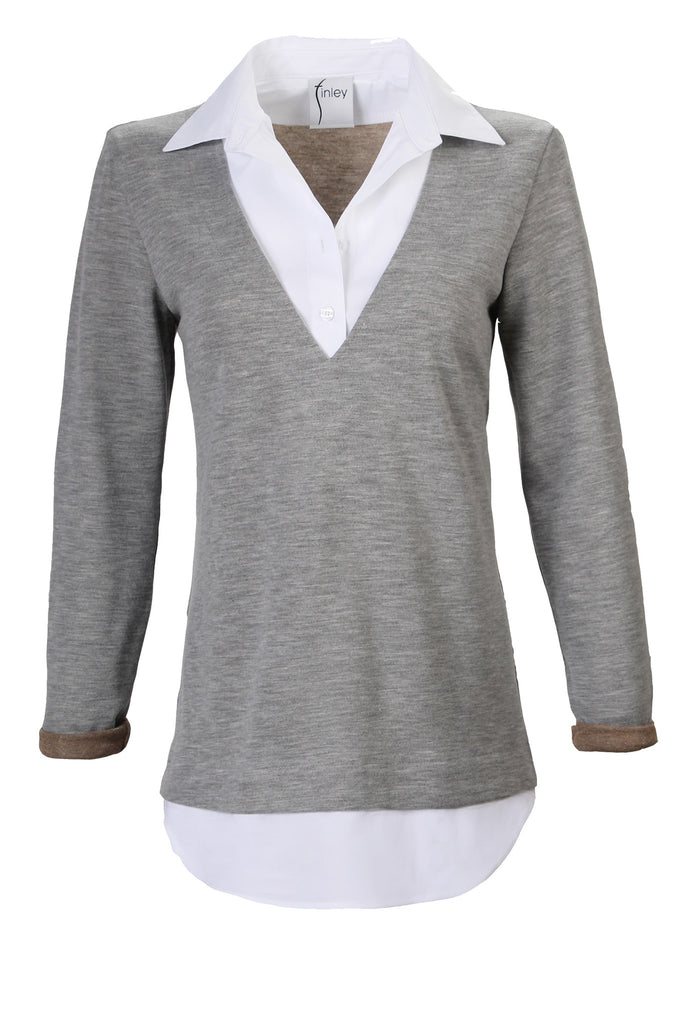 Samantha Popover Grey Knit