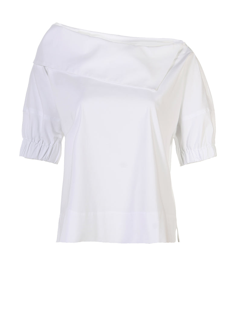 Skipper Shirt White Silky Poplin