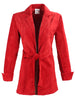 Sylvia Tie Front Suede Jacket Red