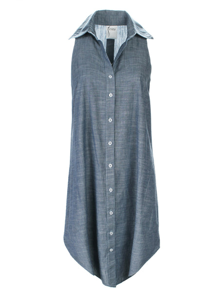Swing Dress Chambray