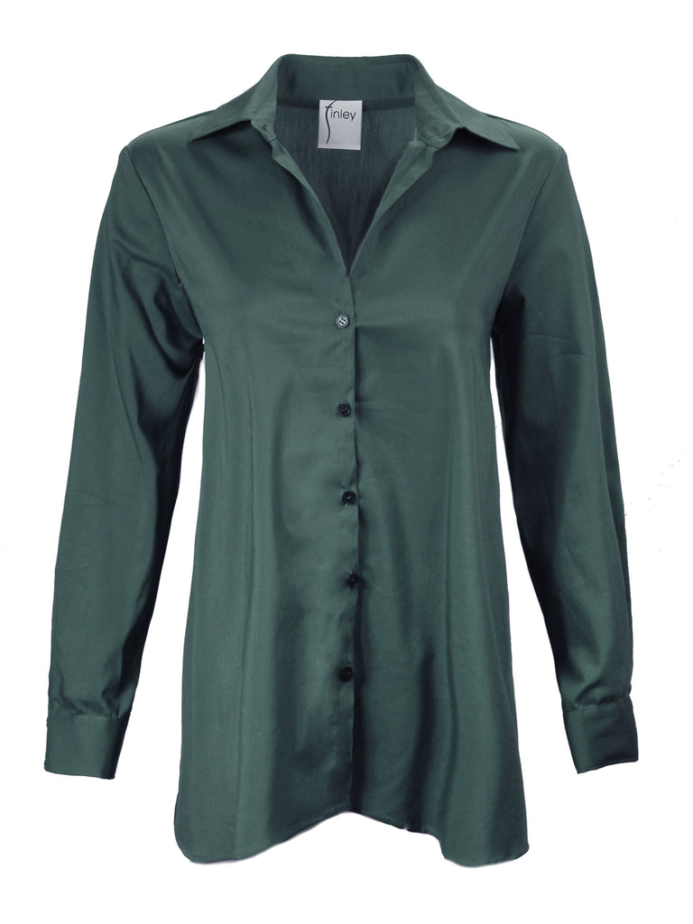 Trapeze Top Long Sleeve Basil Green