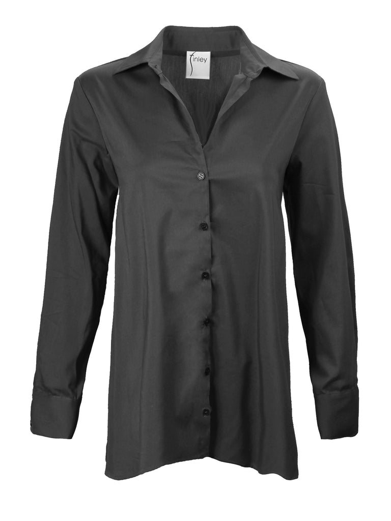 Trapeze Top Long Sleeve Black