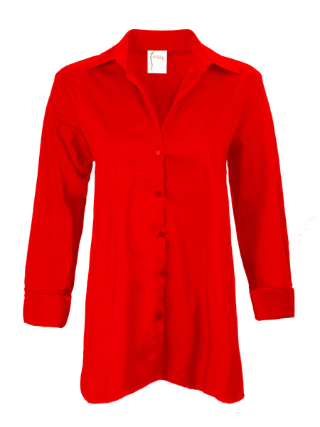 Trapeze Top 3/4 Sleeve Red