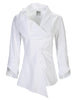 Vivienne Asymmetric Collar Shirt White