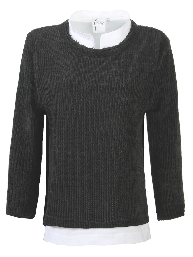 Culver Chenille Knit Black