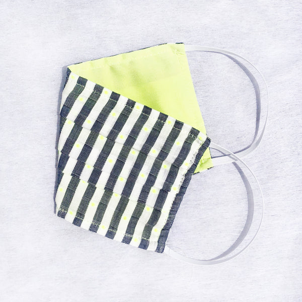 Pack of 3 Face Masks Lime Green Clip Dot - available now!