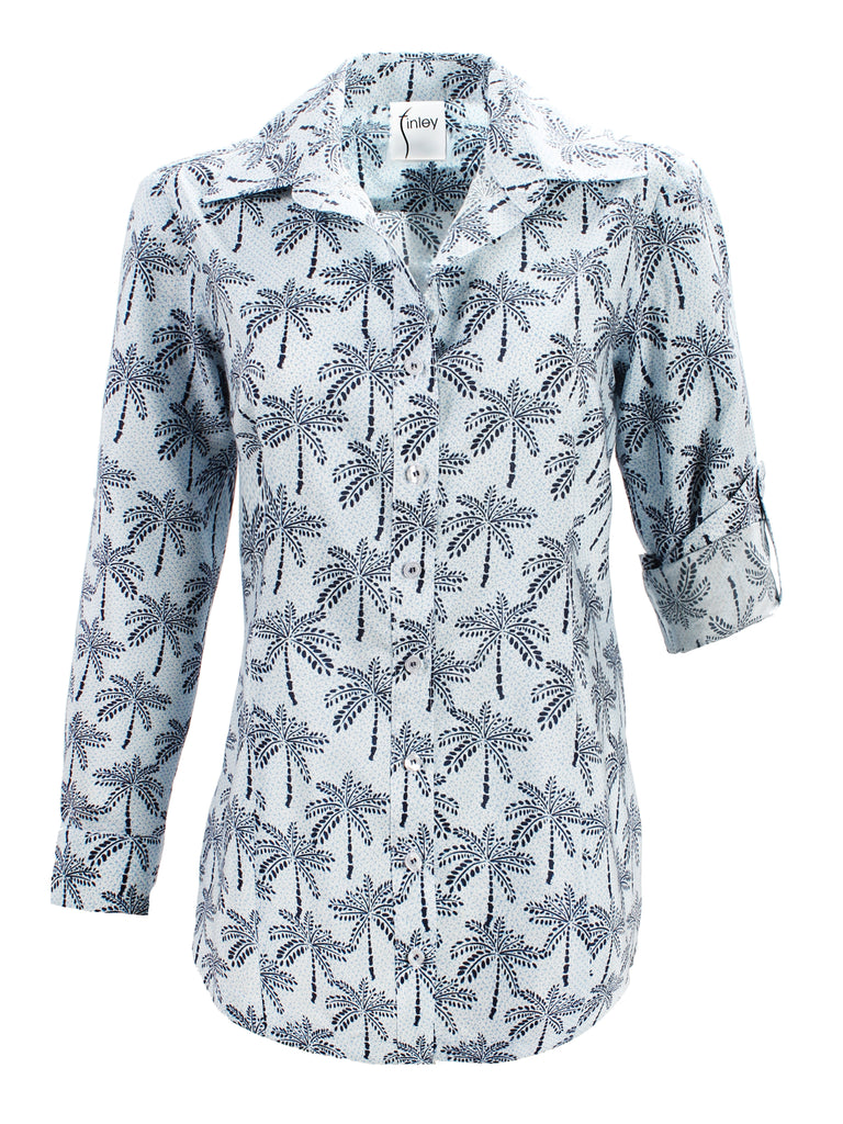 Joey Shirt Desert Palm Print