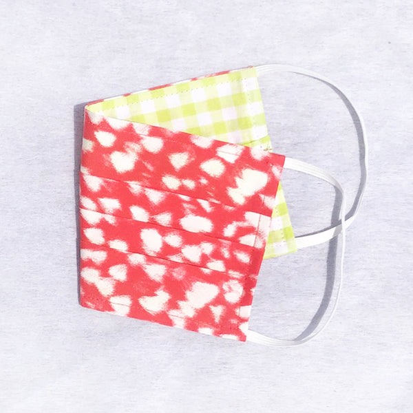 Pack of 3 Face Masks Red Raindot - available now!