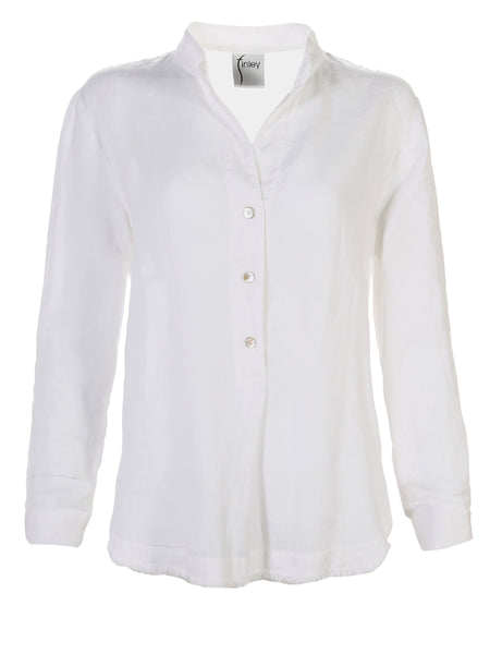 Washed Linen Henri Shirt White