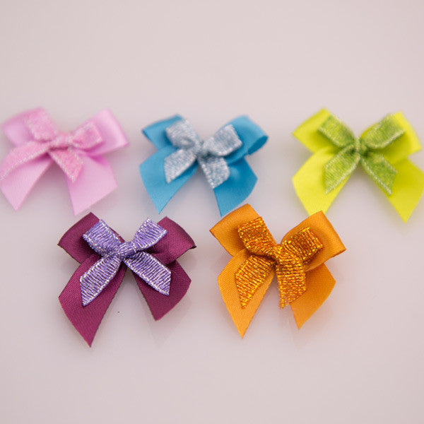 Pet Grooming Bows - Double Bows - Detail