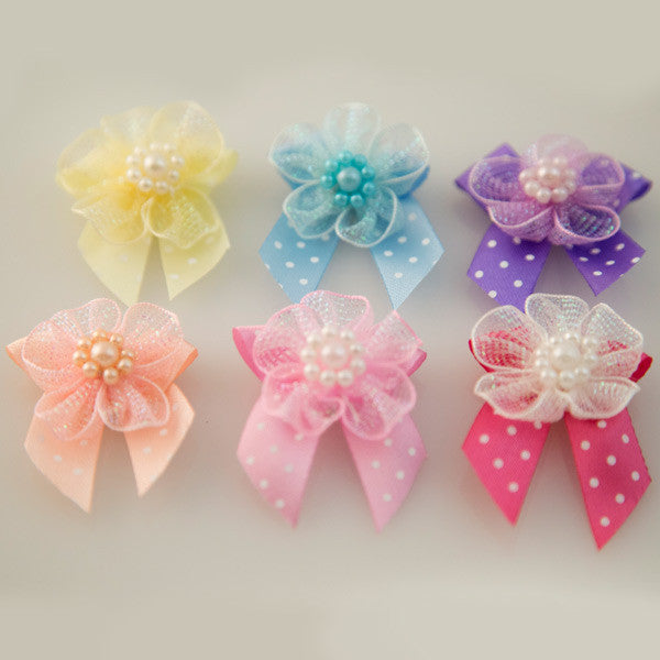 Pet Grooming Bows - Fairy Flowers - Detail
