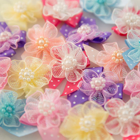 Pet Grooming Bows - Fairy Flowers - Main