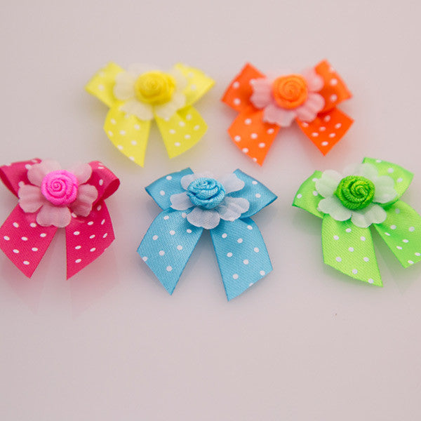Pet Grooming Bows - Neon Bows - Detail
