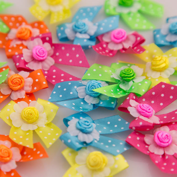 Pet Grooming Bows - Neon Bows - Main