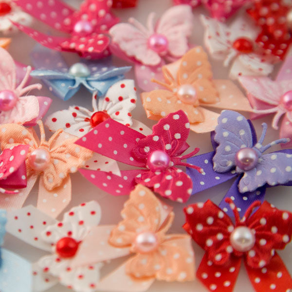 Pet Grooming Bows - Polka Dot Butterflies - Main