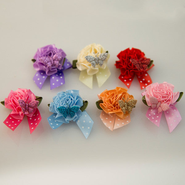 Pet Grooming Bows - Secret Garden - Detail