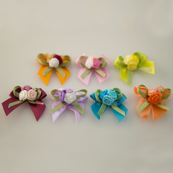 Pet Grooming Bows - Simply Roses Bouquet - Detail