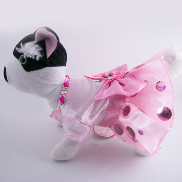 Doggie Dress - Pretty in Pink Party Dress - Model 02