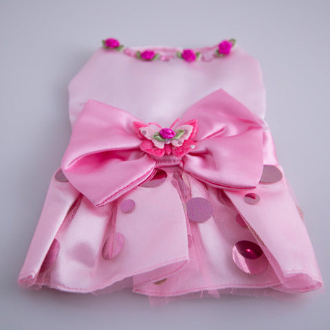 Doggie Dress - Pretty in Pink Party Dress - Main