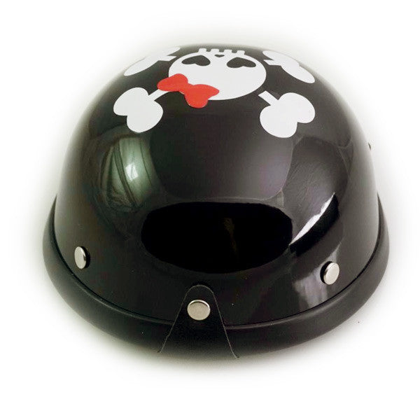 Dog Helmet - Black - Cutie Skull - Back