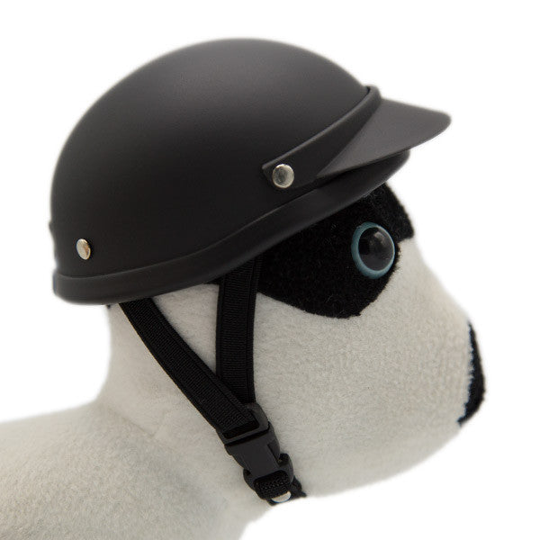 Dog Helmet - Matte Black - Strap
