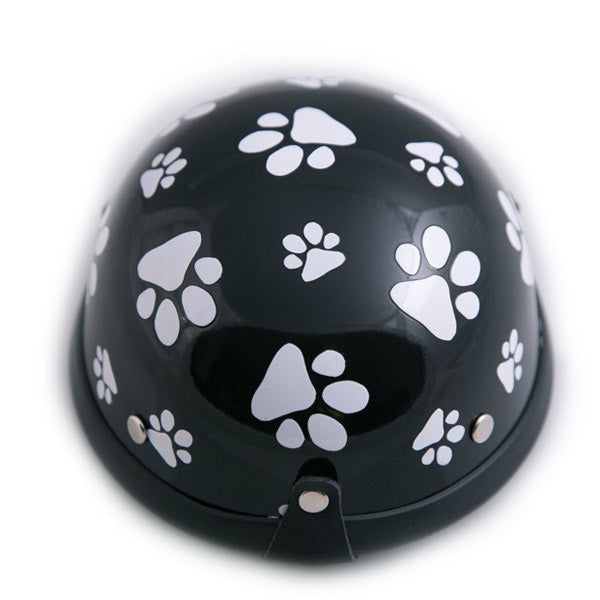 Dog Helmet - Black Pawz - Back