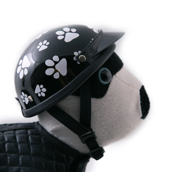 Dog Helmet - Black Pawz - Strap