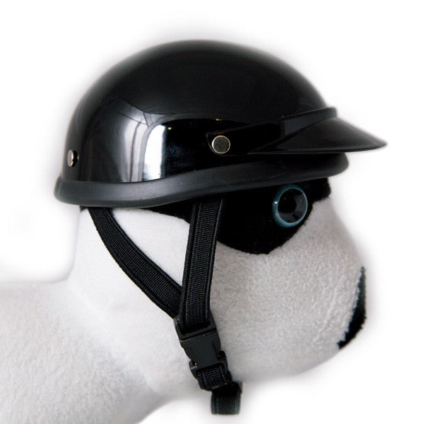 Dog Helmet - Black - Strap
