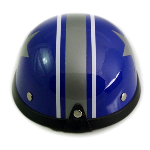 Dog Helmet - Blue Star - Back