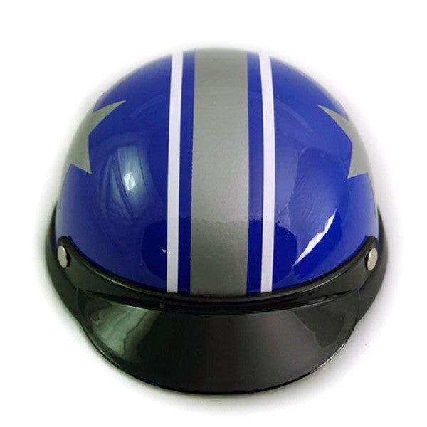Dog Helmet - Blue Star - Front