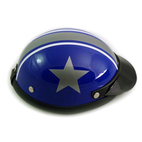 Dog Helmet - Blue Star - Side