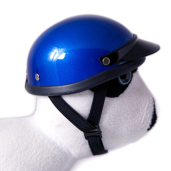 Dog Helmet - Blue - Strap