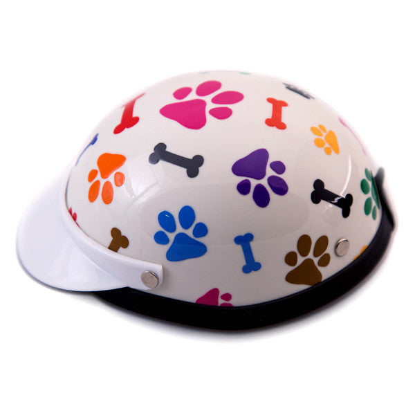 Dog Helmet - Bones & Paws - Side View