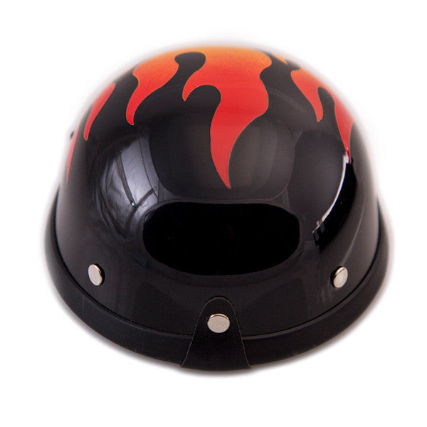 Dog Helmet - Flame - Back