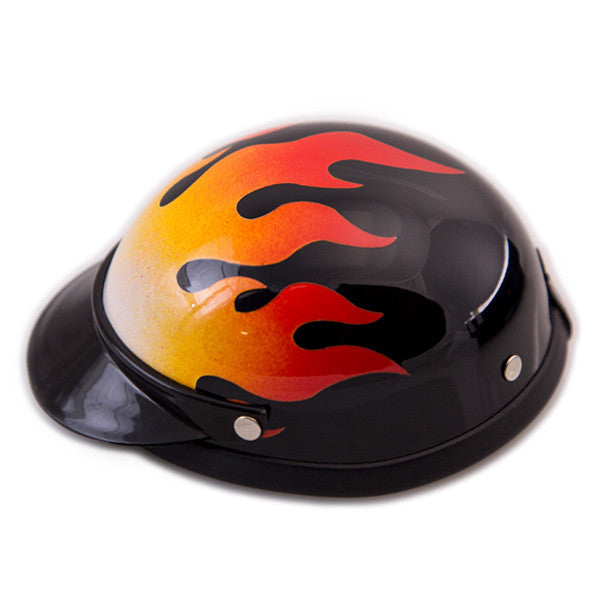 Dog Helmet - Flame - Side View