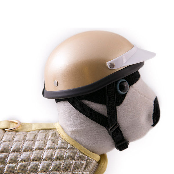 Dog Helmet - Gold - Strap