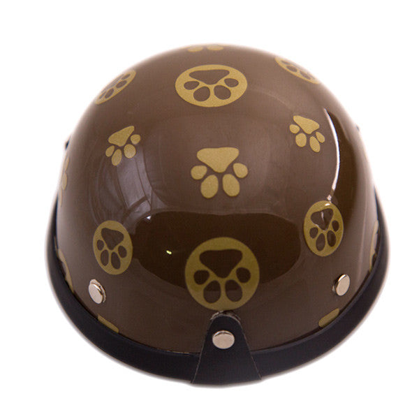 Dog Helmet - Gold Paws - Back