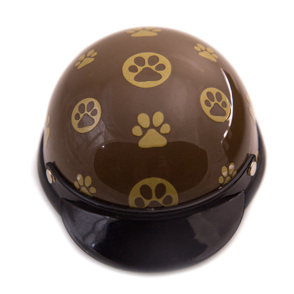Dog Helmet - Gold Paws - Front