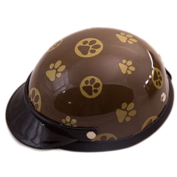 Dog Helmet - Gold Paws - Main
