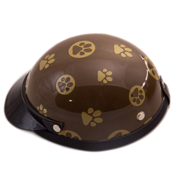 Dog Helmet - Gold Paws - Side