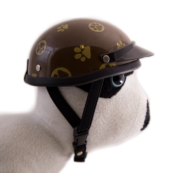 Dog Helmet - Gold Paws - Strap