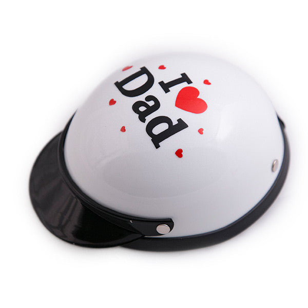 Dog Helmet - I Love Dad - White - Main