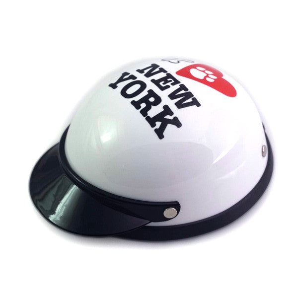 Dog Helmet - I Love New York - White - Main