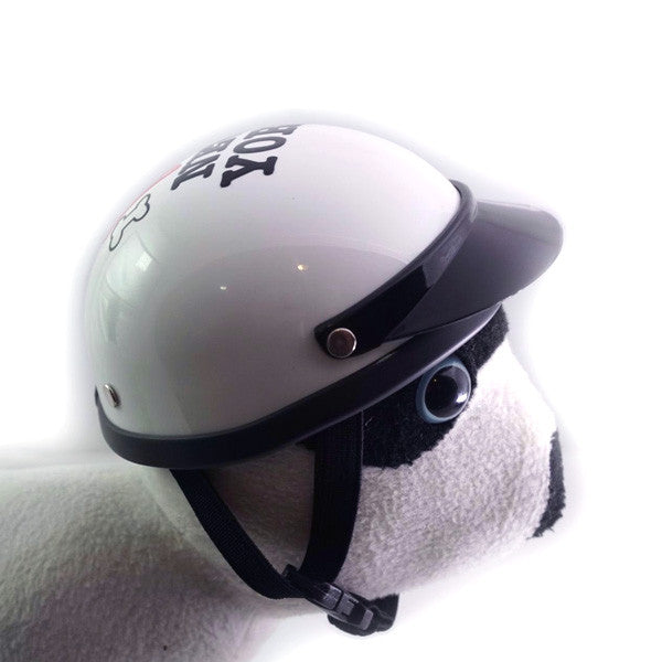 Dog Helmet - I Love New York - White - Strap