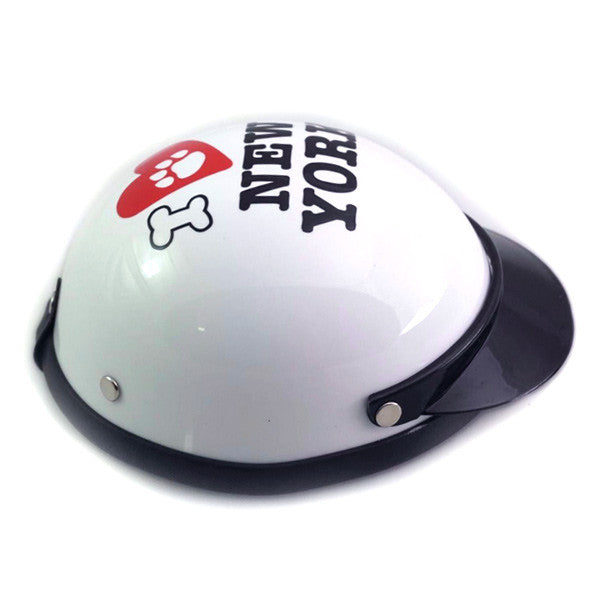 Dog Helmet - I Love New York - White - Side