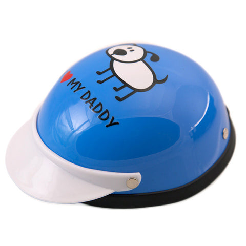 Dog Helmet - I Love My Daddy - Blue - Main