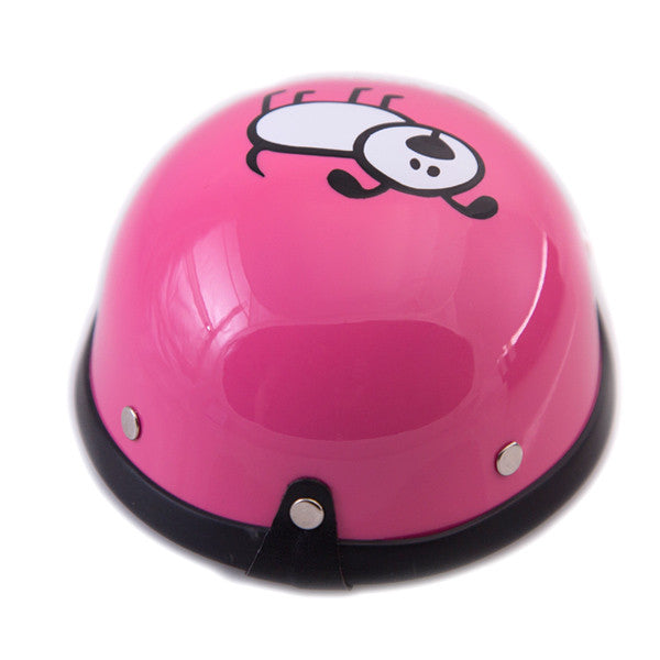Dog Helmet - I Love My Daddy - Pink - Back