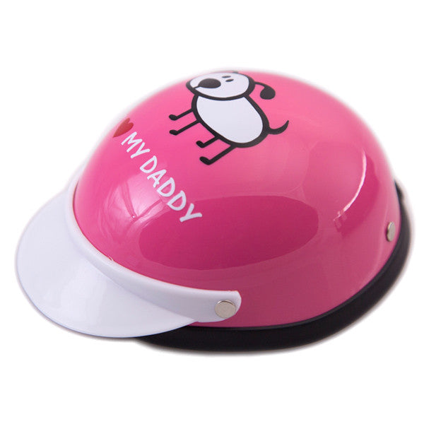 Dog Helmet - I Love My Daddy - Pink - Main