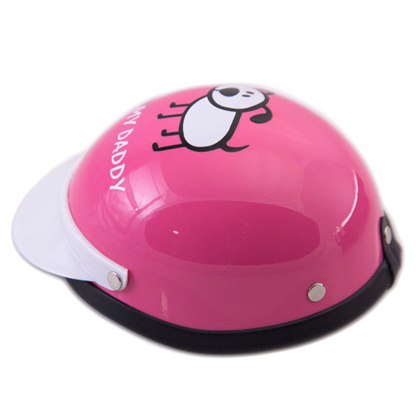 Dog Helmet - I Love My Daddy - Pink - Side View